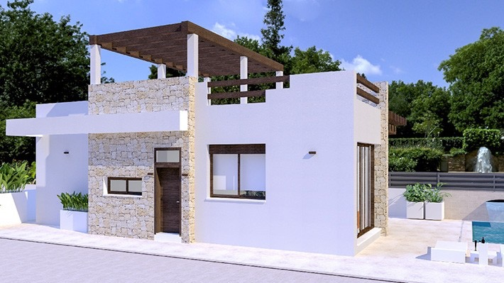New 3 Bedroom Detached Villa with Private Pool in Vera Playa